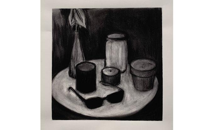"1st ""Charcoal still life 11"" – Elizabeth Baria"