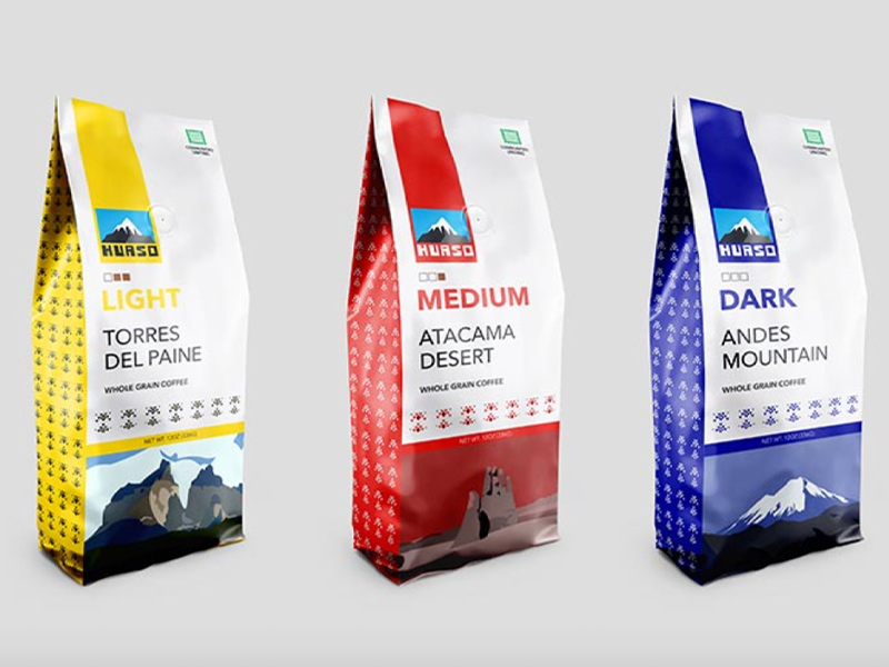 "Irrie Catchings, Ill, ""Hauso, Chilean Coffee Bags,"" Packaging"
