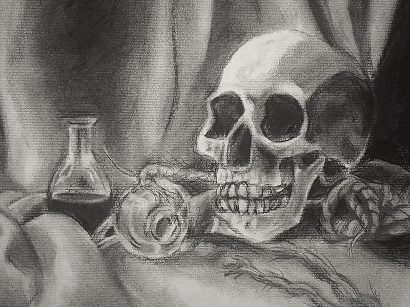 "Ashley Vanderkooy. ""Still Life after Vanitas,"" Figure Drawing and Upper Level Drawing"