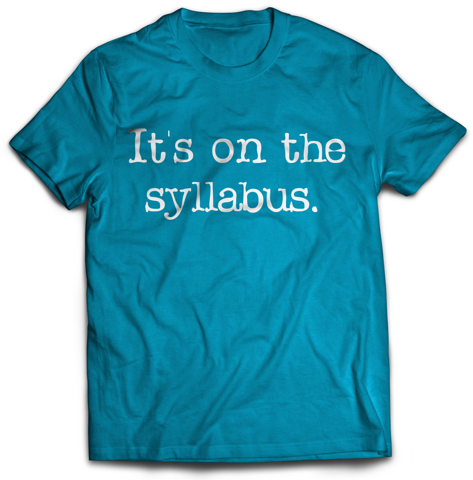 """It's on the syllabus"" tee shirt"