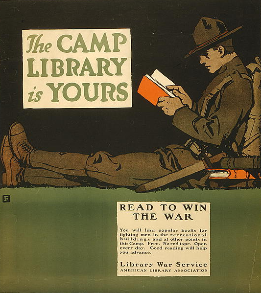 World War I Camp Library Poster