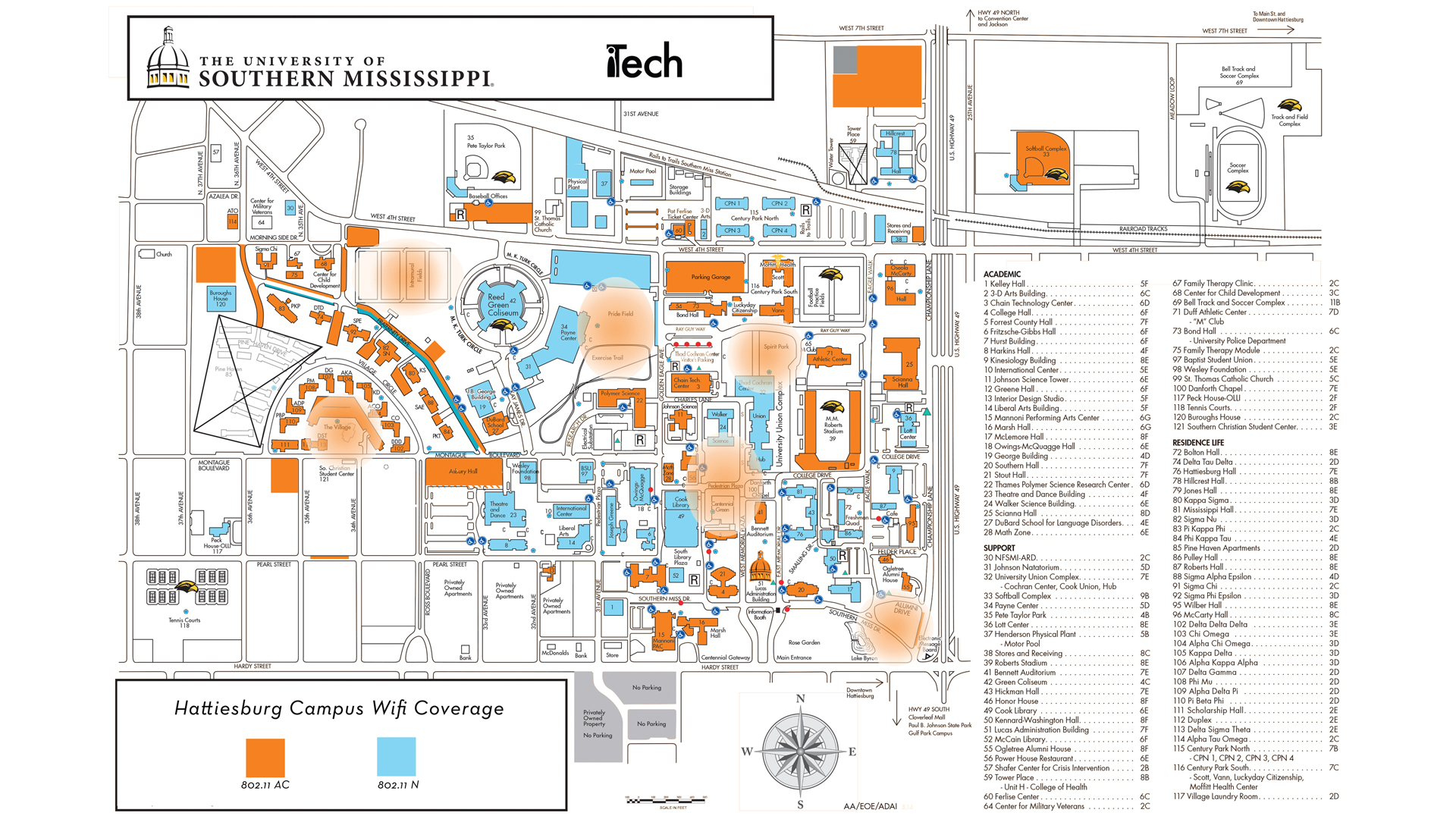 usm hattiesburg campus map For Students With Limited Internet Services Itech The usm hattiesburg campus map