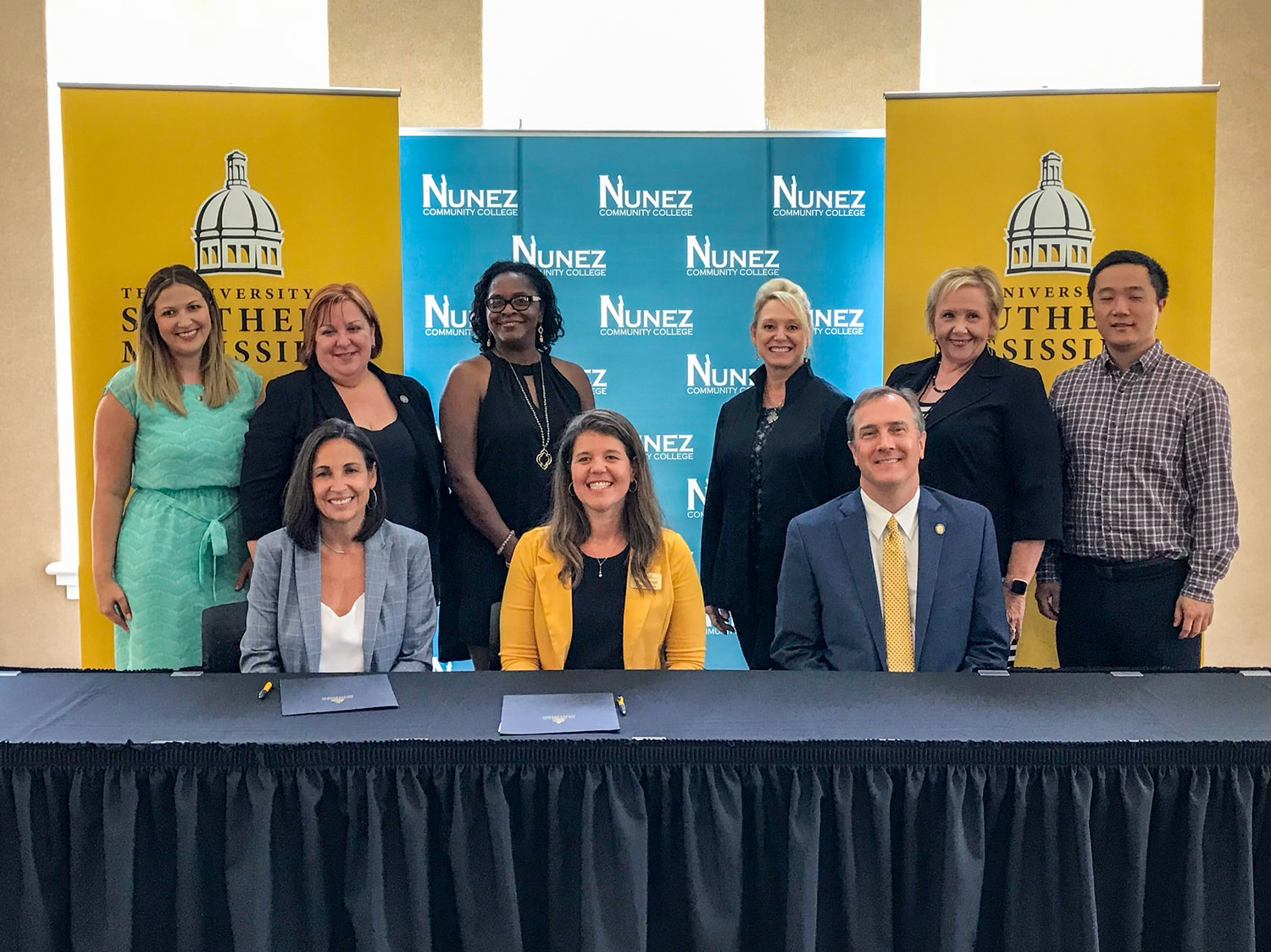 USM and Nunez Community College have entered into an agreement that will establish a transferable pathway for NCC students to become eligible for direct admission into USM's Applied Technology and Industrial Engineering Technology/Logistics programs.