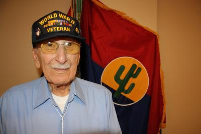 Joe De Luca, a staff sergeant with the 103d Infantry Division in WWII.