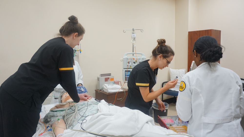 USM nursing students gain valuable skills in the USM Clinical Simulation Center Coordinator (submitted photo).