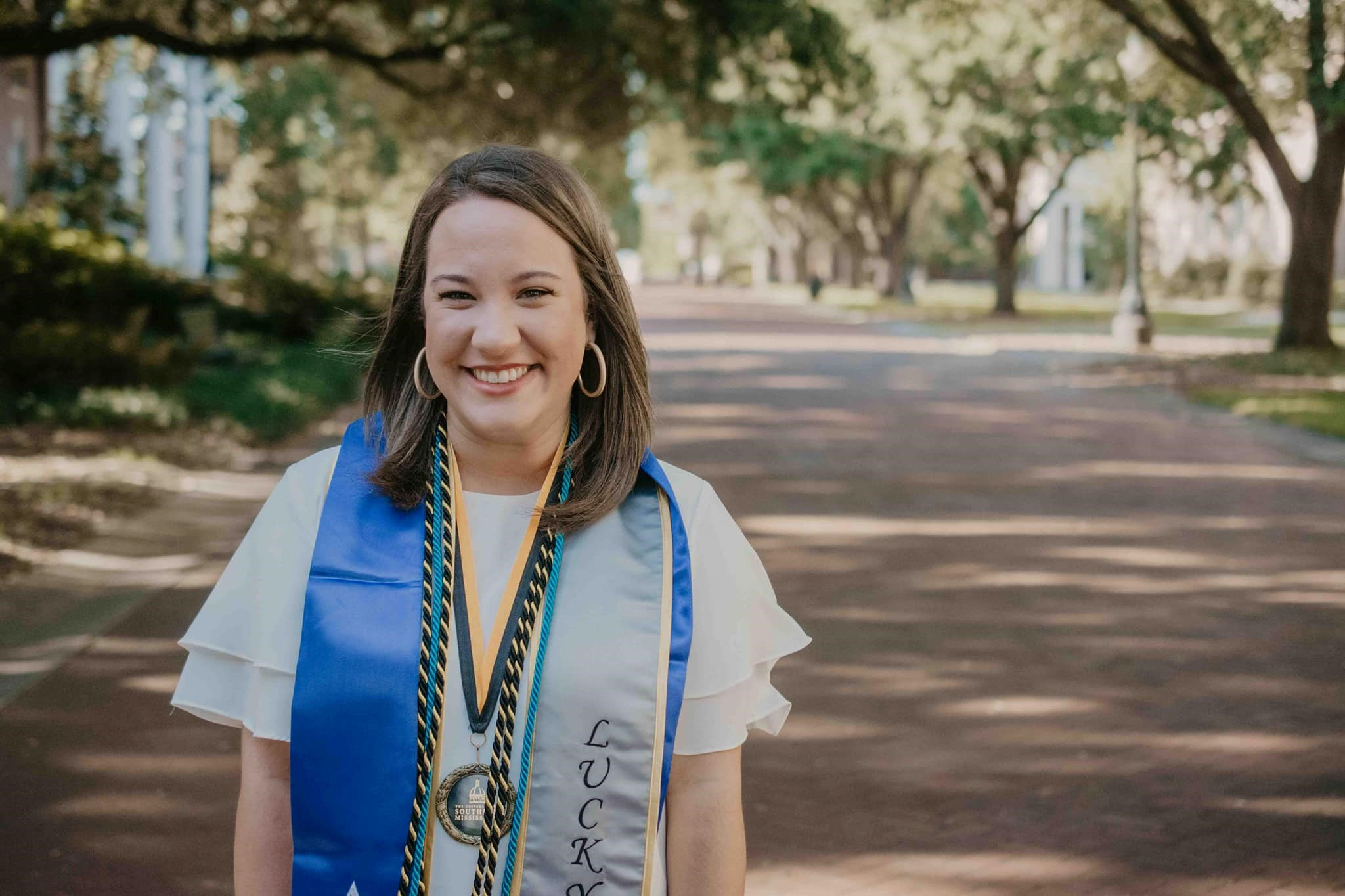 Adriana Rodriguez, a 2019 graduate of The University of Southern Mississippi (USM) College of Education and Humans Sciences' School of Education