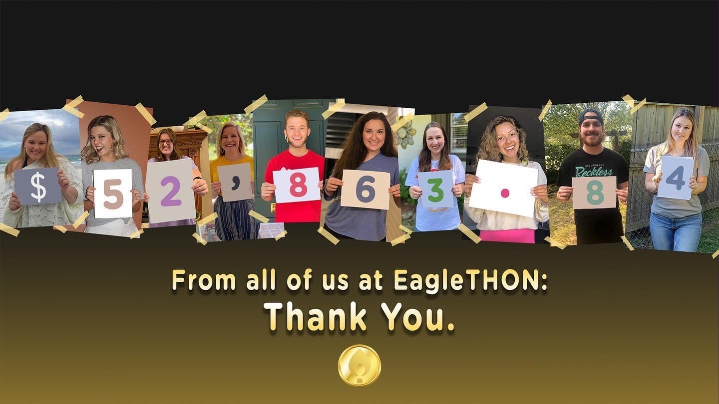 From all of us at EagleTHON: Thank You.