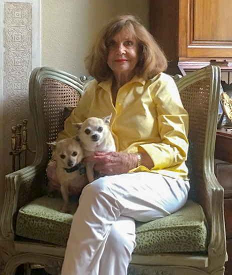 Jane Jones with her two dogs