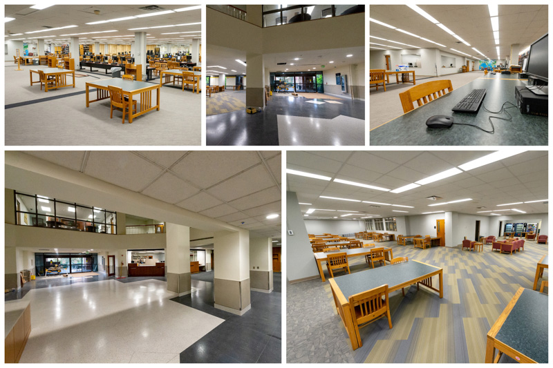 Photos of the library renovation