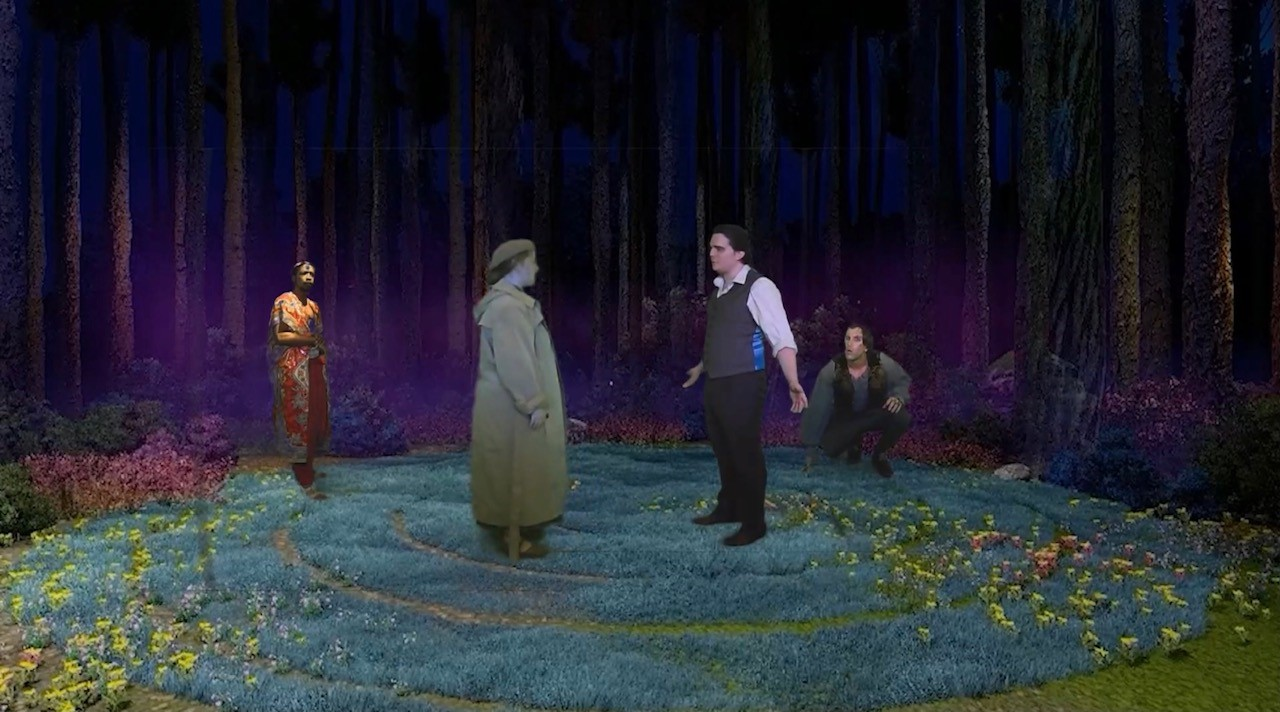A stage photo from A Midsummer Night's Dream
