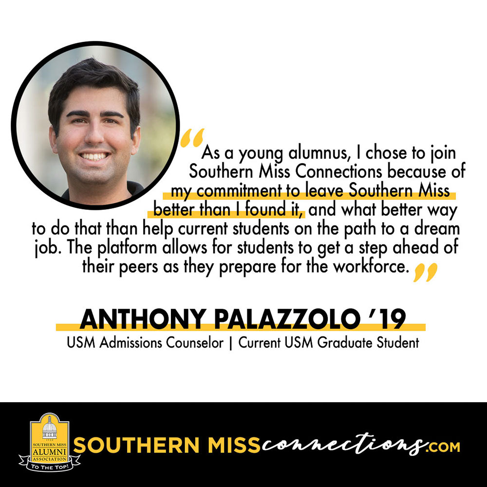 Quote from Anthony Palazzo - USM Admissions Counselor