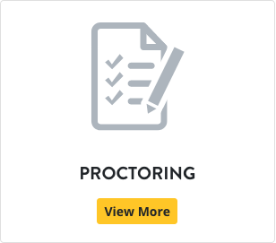 An image of a checklist and the word proctoring.