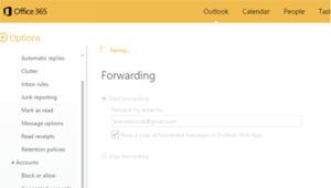 Step 6 - Check stop forward to quit forwarding email