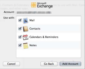Step 9 - Select applications to configure with Apple Mail