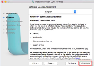 Step 9 - Select continue for the software license agreement