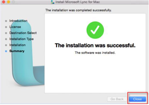 Step 14 - Close successful installation window