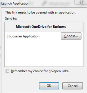 Step 6 - If you get an additional screen, select ok to open Microsoft One Drive