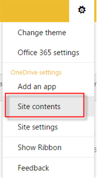 Step 4 - Select Site Contents