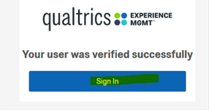 Once successfully verified, sign in