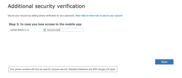 Additional security verification step 3