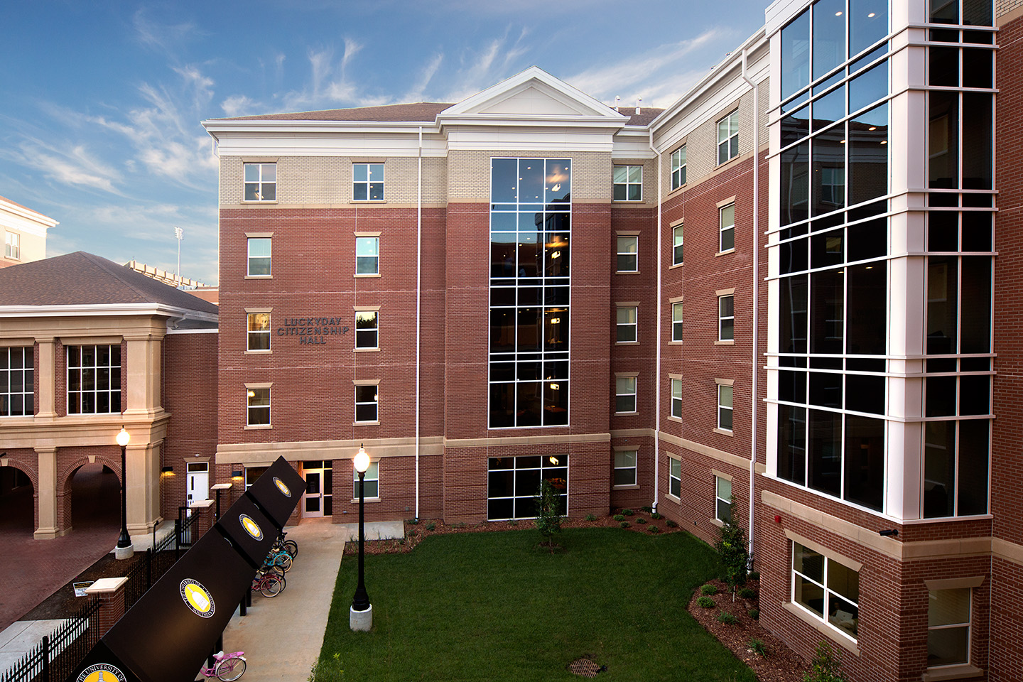 This is a residence hall on campus.