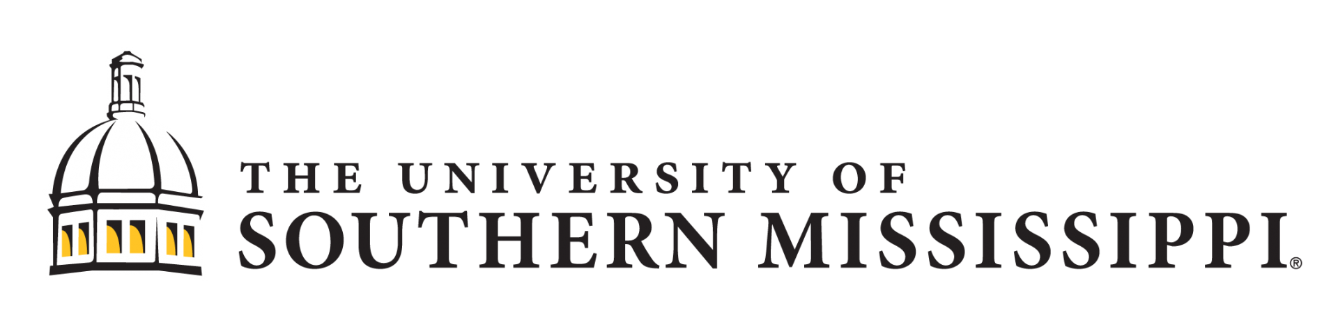 Horizontal logo for The University of Southern Mississippi