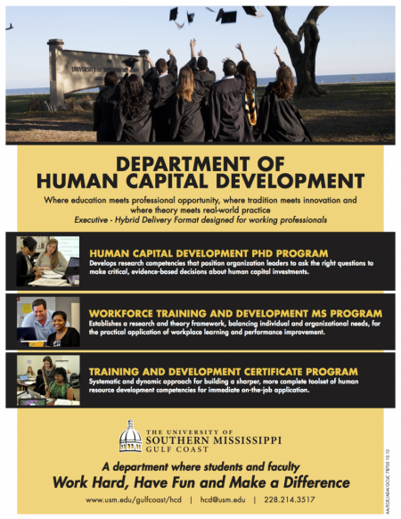 The Department of Human Capital Development at Southern Miss