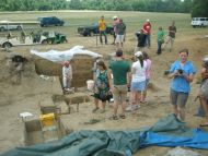 Visiting the Excavation at Poverty Point