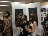 Students and Faculty gather for the BIG READ: Edgar Allen Poe exhibit in the Coo