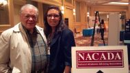 Prof. Fontecchio and Cathy Ventura at NACADA conference 2013