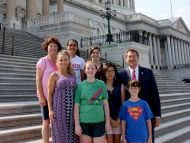 Rep. Harper with students from Pass Christian