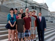 Rep. Harper with students from Starkville
