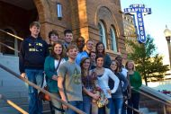 Honors Communication Studies class visits 16th Street Baptist Church in Birmingham, AL