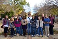 Dr. Wendy Atkins-Sayers Honors Communication Studies class at Kelly Ingram Park in Birmingham, Alabama