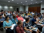 A full crowd came for the session in Hattiesburg on Sept. 19