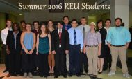 Summer 2016 REU Students