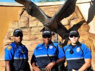 (L-R) Officers DeJeremy Thomas, Gloria Davison and Aaron Jernigan