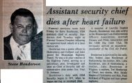 """Associate Security Chief Dies After Heart Attack"""