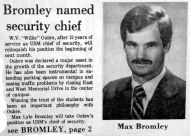 """Bromley Named Security Chief"""