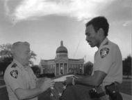Lt. Warner Moffet and Officer Jerry Heidelburg