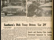 """Southern's 'Dick Tracy' Drives Car 29"" Student Printz"