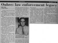 Oubre: Law Enforcement Legacy