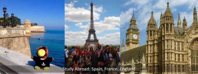 Study Abroad: Spain, France, England