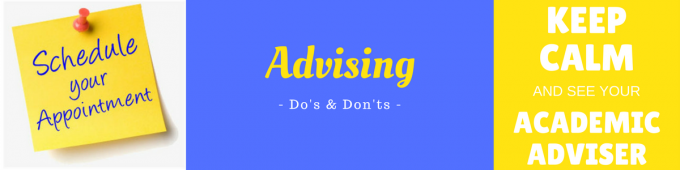 Advising Do's and Don'ts graphic