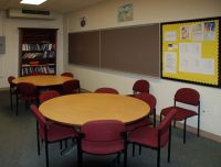 photograph of one of the tutorial center classrooms