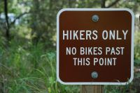 Hikers Only Sign