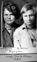 Sarah Stevenson Johnson's passport picture with her sister