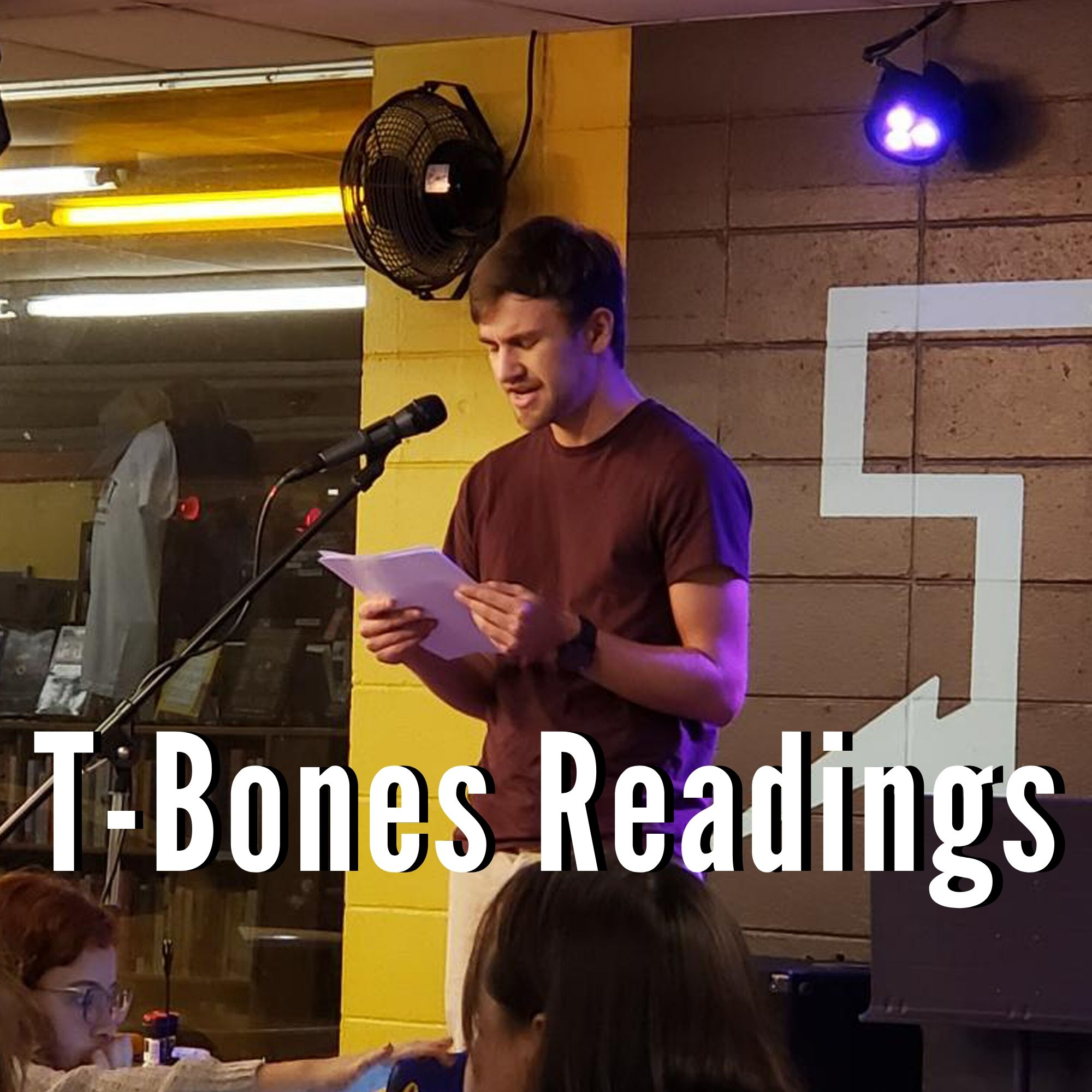 Graduate reading at T-Bones Records and Cafe